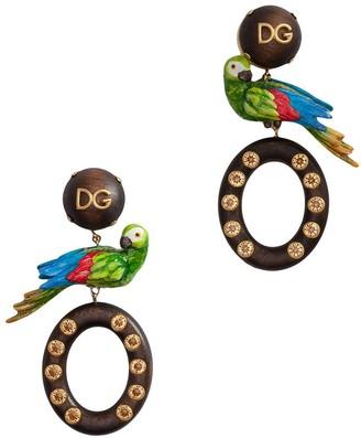 Dolce & Gabbana Parrot Detail Drop Earrings