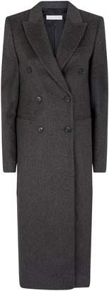 Victoria Beckham Tailored Long Wool Pea Coat