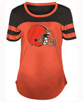 5th & Ocean Women's Cleveland Browns Limited Edition Rhinestone T-Shirt