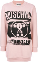Moschino logo sweatshirt dress - women - Cotton/other fibers - XS