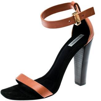 Celine Beige Leather Ankle Strap Sandals Size 38