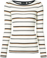 Theory striped fitted sweater - women - Wool - XS