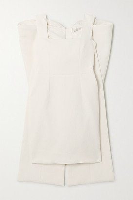 Emilia Wickstead Drusilla Bow-detailed Cloque Mini Dress - Ivory