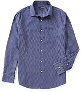 Murano Non-Iron Slim-Fit Long-Sleeve Spread Collar Radio Sportshirt