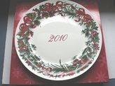 Martha Stewart 2010 Limited Edition Plate Holiday Garden Nwb Msrp 34.00