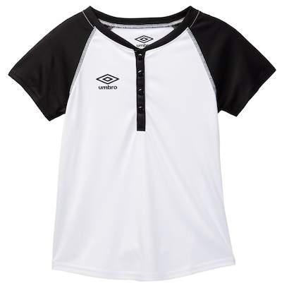 Umbro Drop Ball Henley Short Sleeve Shirt (Big Girls)