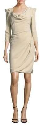 Vivienne Westwood Solid Three-Quarter-Sleeve Sheath Dress