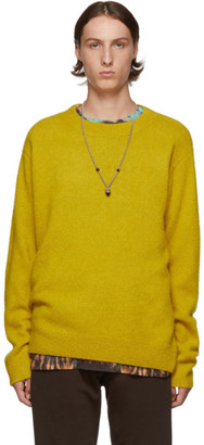 Dries Van Noten Yellow Merino and Cashmere Sweater
