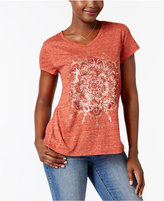 Style&Co. Style & Co Foiled Floral Graphic T-Shirt, Created for Macy's