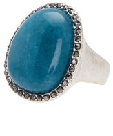 Lucky Brand Stone Halo Statement Ring - Size 7