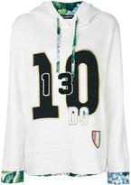 Dolce & Gabbana hooded sweatshirt - women - Silk/Cotton/Spandex/Elastane - 40