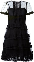 RED Valentino point d'esprit lace dress - women - Cotton/Polyester/Polyamide - 44