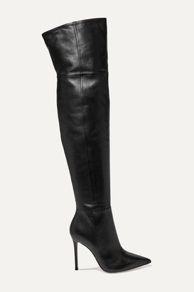 Gianvito Rossi 105 Leather Over-the-knee Boots - Black