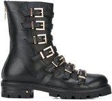 Cesare Paciotti multiple buckles boots