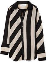 Marques Almeida Marques' Almeida Striped Cotton And Silk-blend Gauze Shirt