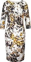 Basler Animal Print Jersey Dress
