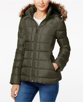 The North Face Gotham Faux-Fur-Trim Hooded Coat