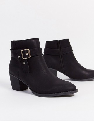 Call it SPRING carnellia heeled ankle boot with buckle in black