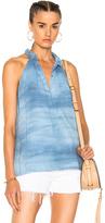 Raquel Allegra Halter Top in Blue,Ombre & Tie Dye.