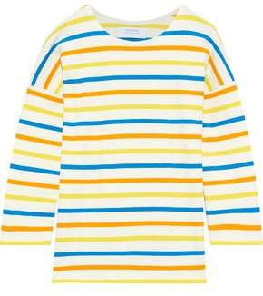La Ligne Us Navy Striped Cotton-jersey Top