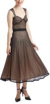Bettie Page Blush & Black Roman Holiday Dress