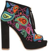 Jerome C. Rousseau 110mm Coco Embellished Suede Boots