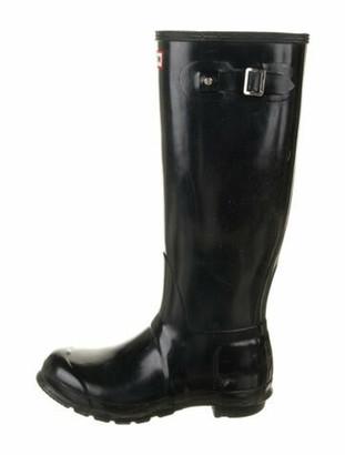 Hunter Rubber Rain Boots Blue