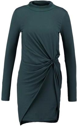 Noisy May Women's Walsh Long Sleeve High Neck Drape Dress