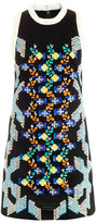 Peter Pilotto Flower embellished mesh dress