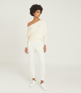 Reiss Lorna - Asymmetric Knitted Top in White