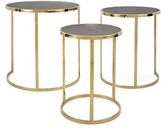 Everly Gracelynn Stainless Steel 3 Piece Nesting Tables Quinn