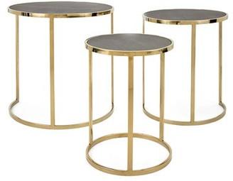 Everly Quinn Gracelynn Stainless Steel 3 Piece Nesting Tables