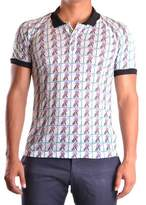 Galliano Men's Multicolor Linen Polo Shirt.