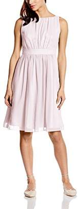 Swing Women's Cocktail Sleeveless Dress with ruffles,L (Manufacturer size: 44)