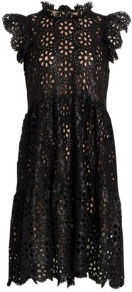 Sea Shelby Lace Eyelet Sequin A-Line Dress