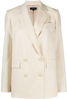 Theory Double-Breasted Blazer Jacket