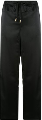 Cédric Charlier Drawstring Wide-Leg Trousers