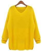 Cityelf Women's Plus Size Loose Casual Solid Slouchy Sweater MYW0014 (L, )