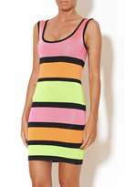Wow Couture Multicolor Stripe Dress