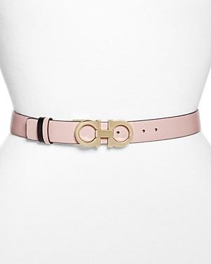 Salvatore Ferragamo Women's Gancini Leather Belt