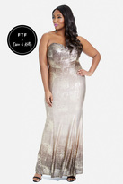 Fashion to Figure The Luxe Life Strapless Gown