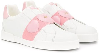 Dolce & Gabbana TEEN heart patch sneakers