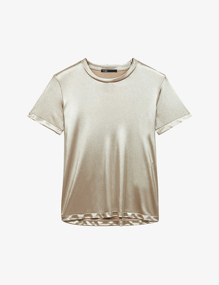 Maje Tolex relaxed-fit metallic T-shirt