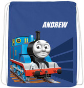 Thomas & Friends Backpacks Blue Tracks Personalized Drawstring Bag