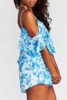 Show Me Your Mumu Cold Shoulder Ruffle Romper