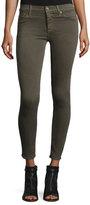 Hudson Nico Mid-Rise Super Skinny Jeans, Trooper Green