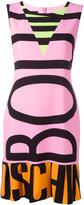 Moschino logo print dress - women - Polyester/other fibers - 42