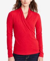 Lauren Ralph Lauren Petite Surplice Jersey Shirt