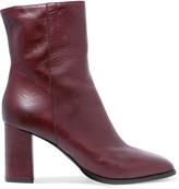 Eight Textured-leather ankle boots