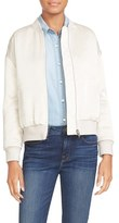 Frame Women's Satin Bomber Jacket